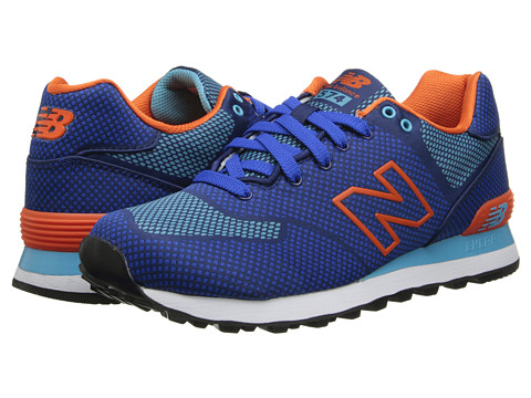 New Balance Classics - ML574-Woven Pack (Blue/Orange) Men's Classic Shoes