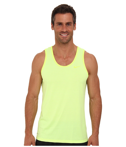 Nike - Dri-Fit Touch Tank (Volt/Venom Green) Men's Sleeveless