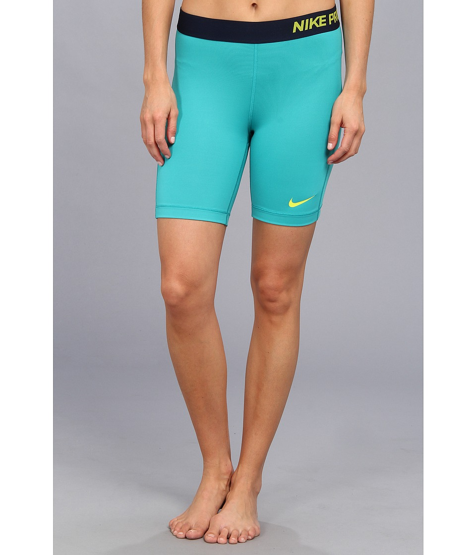 Nike - Pro Seven-Inch Short (Turbo Green/Venom Green) Women's Shorts