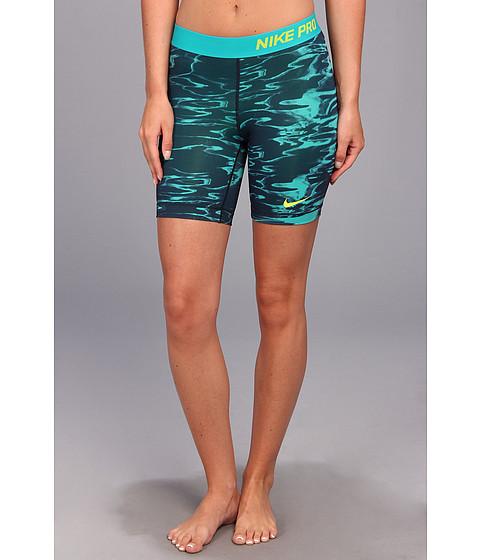 Nike - DriFit Pro Seven-Inch Pool Short (Obsidian/Turbo Green/Venom Green) Women