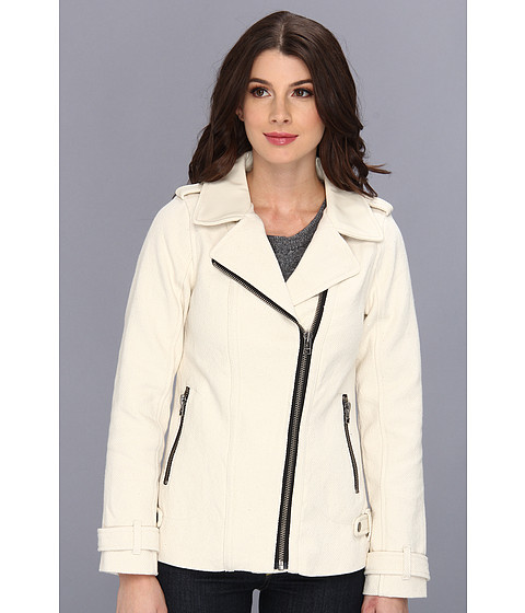 Sanctuary - City Moto Jacket (Ecru) Women's Coat