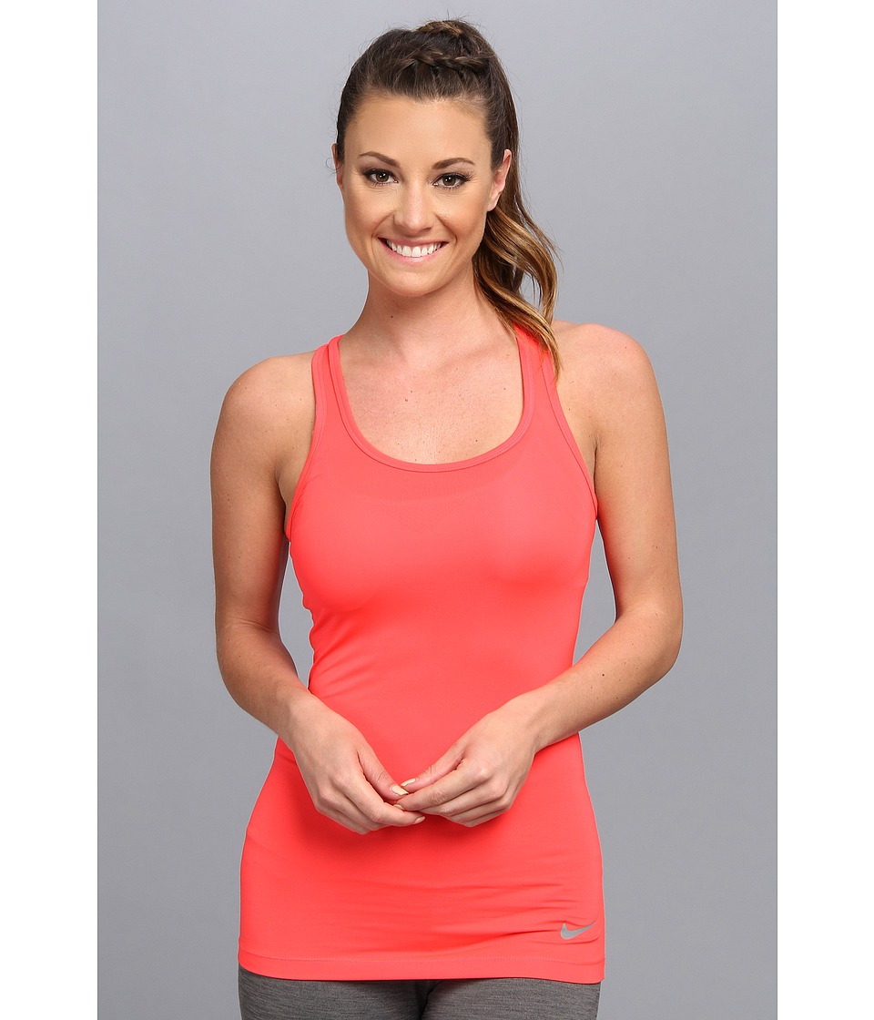Nike - Dri-Fit Pro Hypercool Tank Top (Laser Crimson/Cool Grey) Women's Sleeveless
