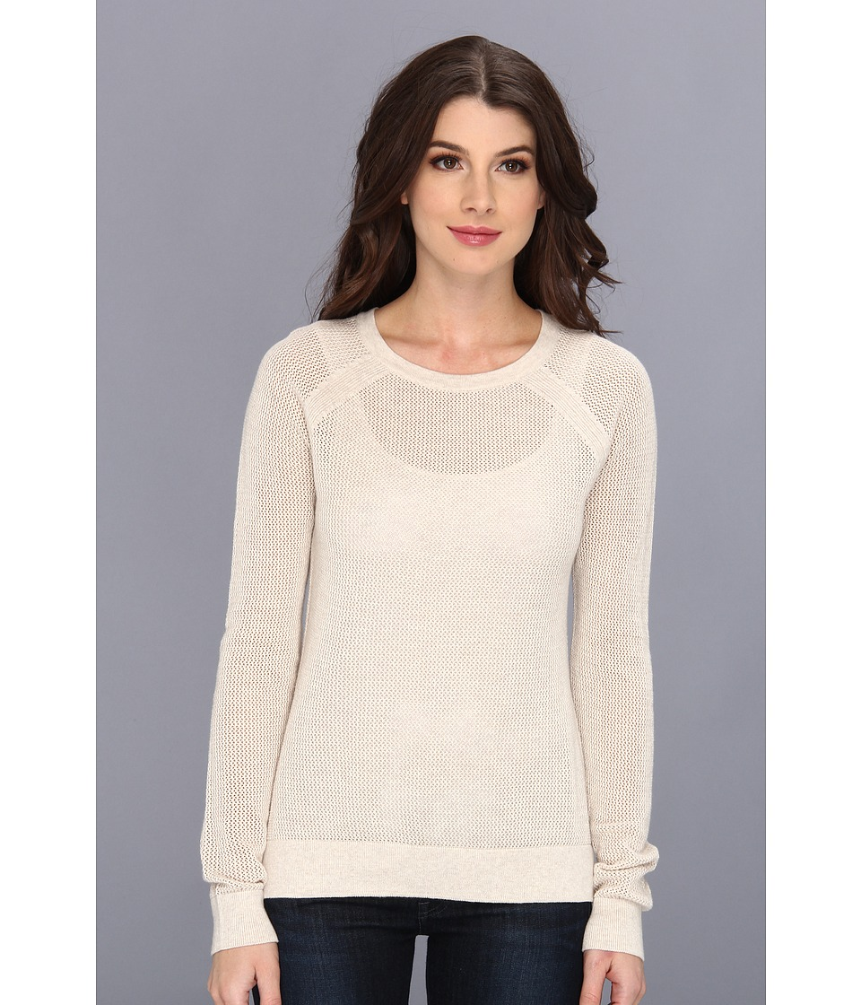Sanctuary - Mesh Crew Tee (Crema) Women's Long Sleeve Pullover