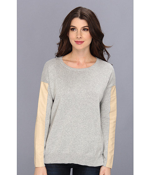 Sanctuary - New Vegan Sleeve (Ash/Sand) Women's Long Sleeve Pullover