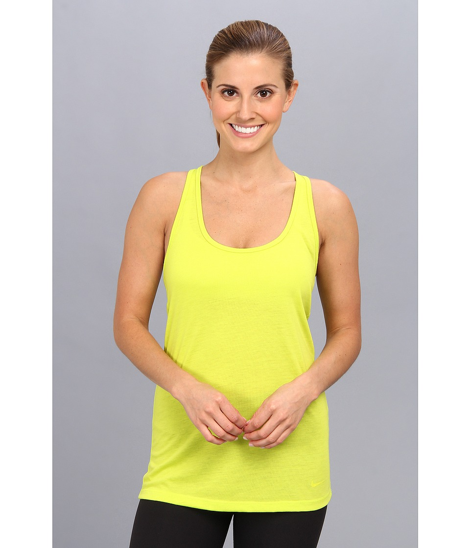 Nike - Flow Tank (Venom Green/Venon Green) Women's Sleeveless