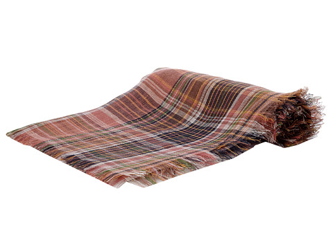 LAUREN by Ralph Lauren - Madras Plaid Square (Pink Multi) Scarves