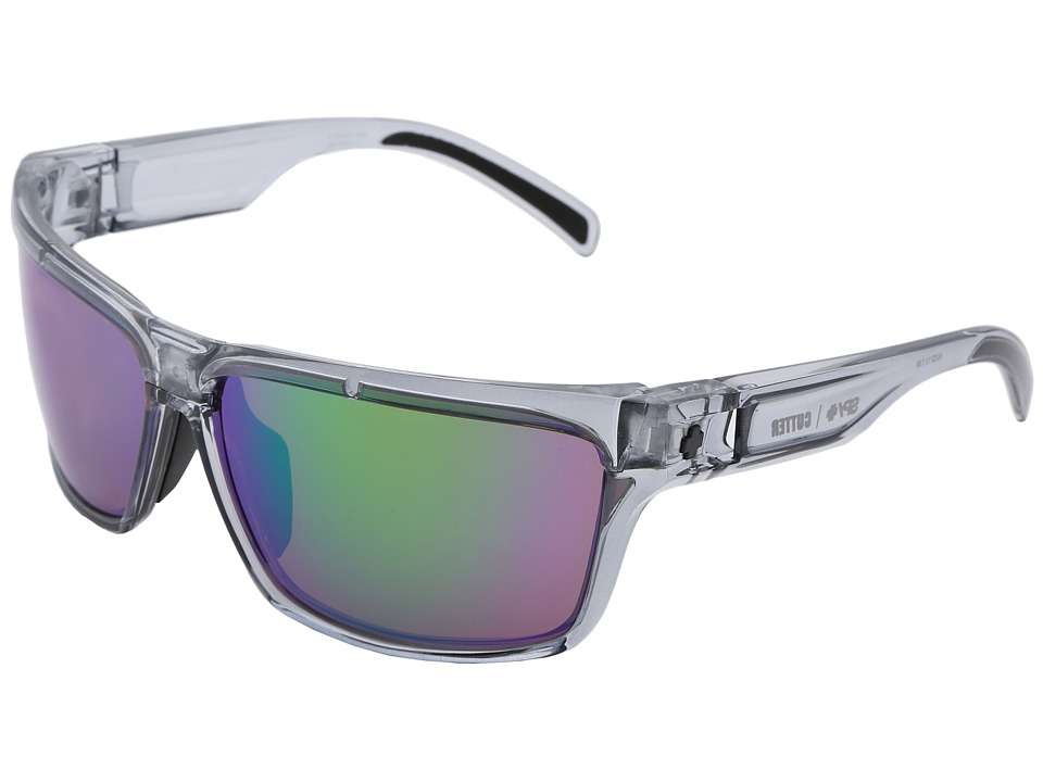 Spy Optic - Cutter (Clear Smoke Bronze w/ Green Spectra) Sport Sunglasses
