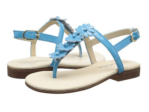 Oscar de la Renta Childrenswear - Patent Daisy Sandals (Toddler/Little Kid) (Turquoise) Girls Shoes