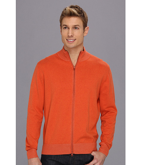 Scott James - Sal Full Zip Cardigan (Orange) Men