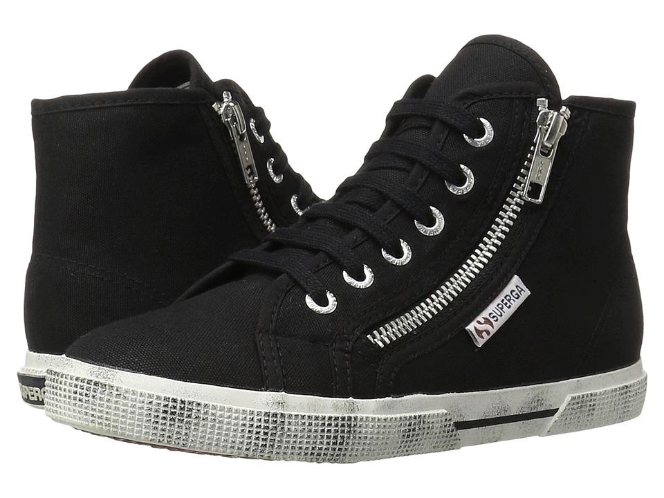 Superga - 2224 Cotdu (Black) Women's Lace up casual Shoes