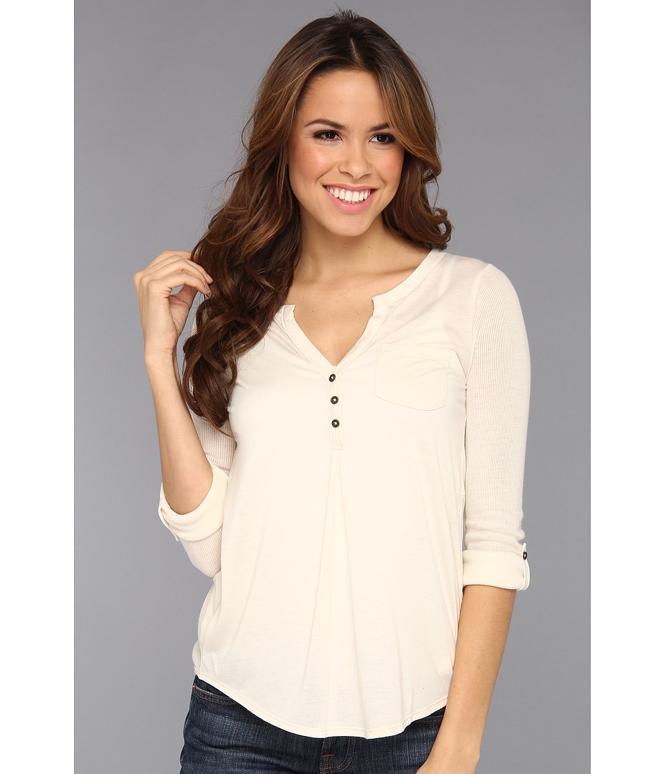 Lucky Brand Dallas Pocket Top Womens Blouse (White)