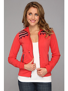 SALE! $41.99 - Save $48 on Lucky Brand Emb Zip Hoodie (Poinsettia Marled) Apparel - 53.08% OFF $89.50