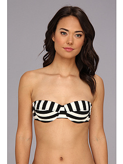 SALE! $26.99 - Save $37 on Ella Moss Cabana Stripe Molded S C U W Bra (Black) Apparel - 57.83% OFF $64.00