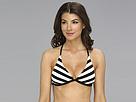 Ella Moss Cabana Stripe Rem S/C Halter Bra (Black) Women's Swimwear