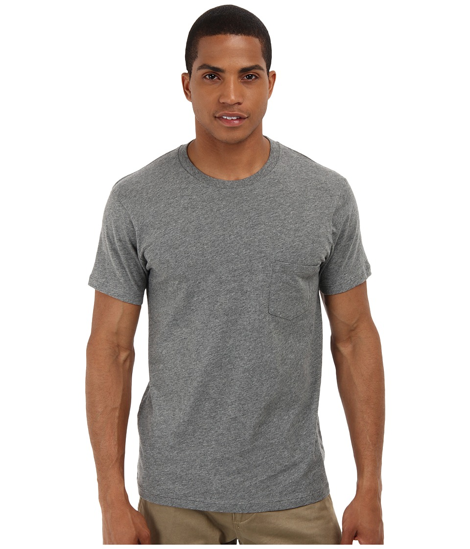 Alternative - Perfect Pocket Tee (Oxford Grey Heather) Men's Short Sleeve Pullover