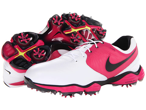 Nike Golf - Lunar Control II (White/Black/Vivid Pink) Men's Golf Shoes