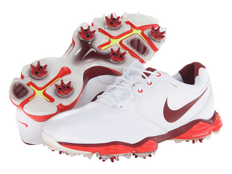 Nike Golf - Lunar Control II (White/Team Red/Challenge Red) Men's Golf Shoes