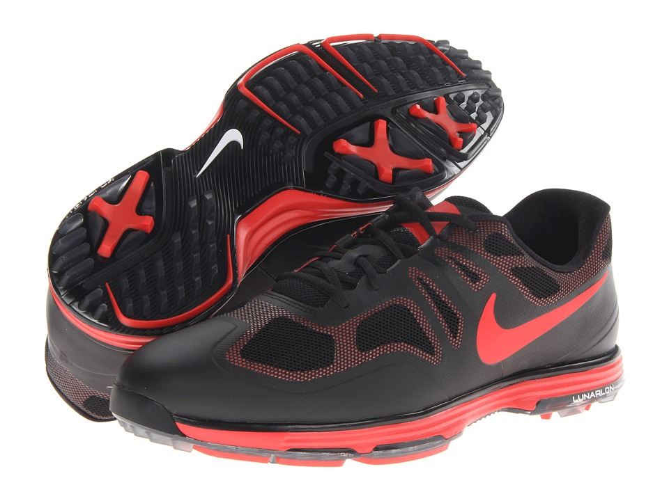 Nike Golf - Lunar Ascend (Lt Crimson/Lt Crimson/Black/White) Men's Golf Shoes