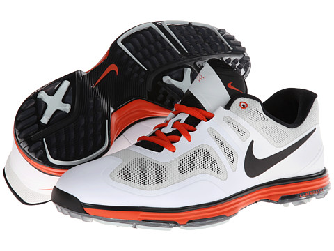 Nike Golf - Lunar Ascend (Lt Base Grey/Black/White/Team Orange) Men's Golf Shoes
