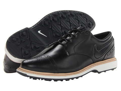 Nike Golf - Lunar Clayton (Black/Black/Sail) Men's Golf Shoes
