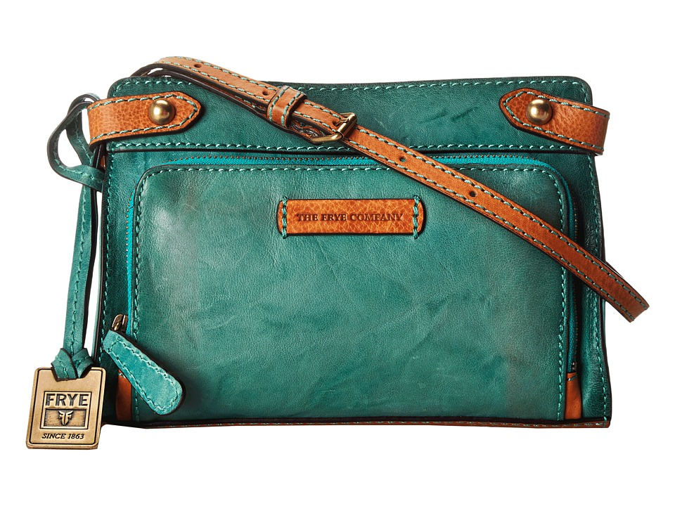 Frye - Michelle Crossbody (Turquoise Antique Soft Vintage) Cross Body Handbags