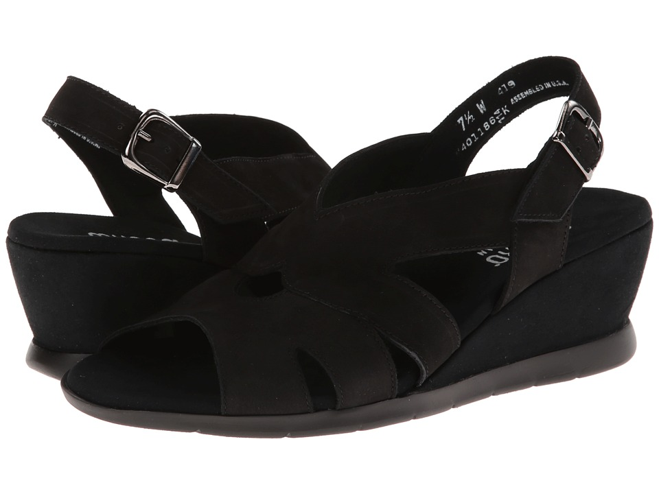 Munro - Lola (Black Nubuck) Women's Shoes