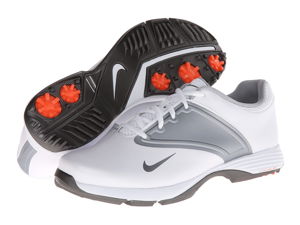 Nike Golf - Lunar Saddle (White/Metallic Cool Grey/Wolf Grey) Women's Golf Shoes