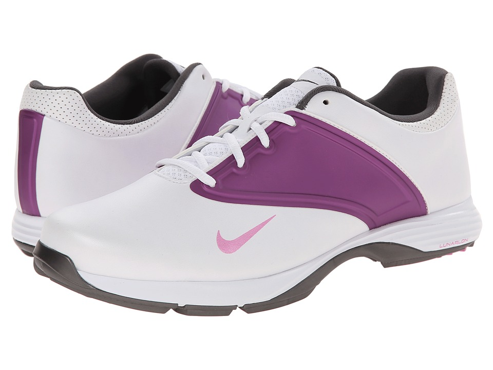 Nike Golf - Lunar Saddle (White/Red Violet/Violet Shade) Women's Golf Shoes