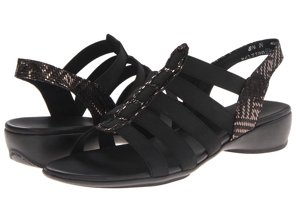 Munro - Darian (Gunmetal/ Black Stretch) Women's Sandals