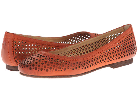 Frye - Carson Perf Ballet (Coral Buffed Nubuck) Women's Flat Shoes