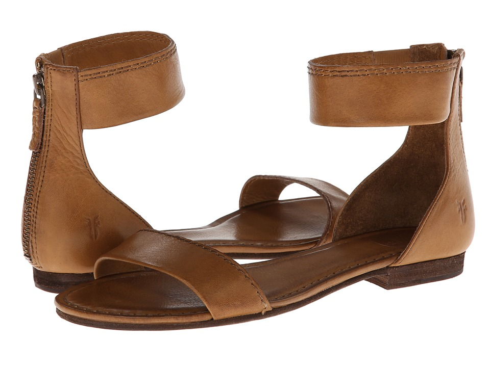 Frye - Carson Ankle Zip (Camel Soft Vintage Leather) Women's Sandals