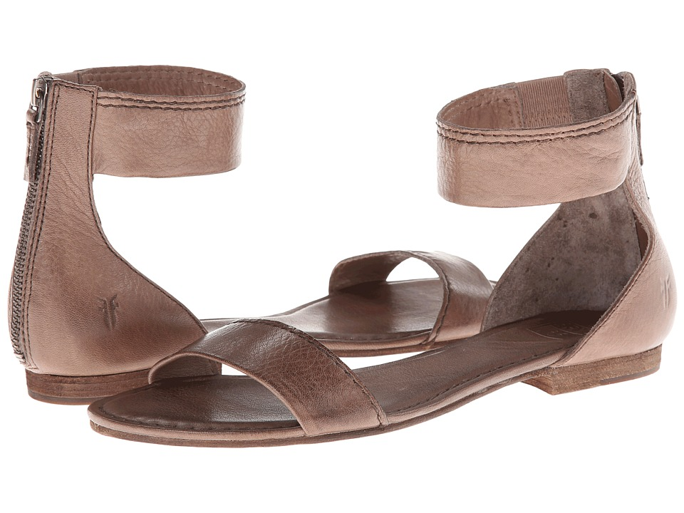 Frye - Carson Ankle Zip (Grey Soft Vintage Leather) Women's Sandals