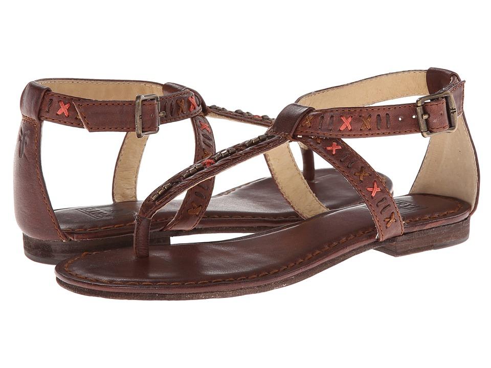 Frye - Carson Boho Thong (Brown Tumbled Full Grain) Women's Sandals