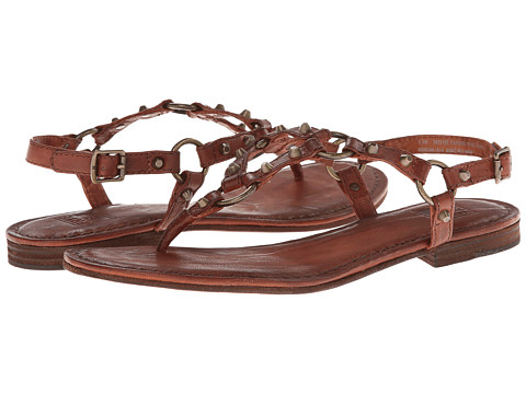 Frye - Carson Ring Thong (Cognac Antique Soft Vintage) Women's Sandals