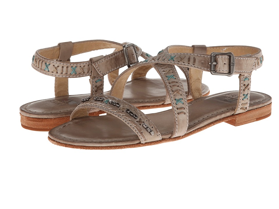 Frye Carson Boho Criss Cross (Sand Tumbled Full Grain) Women