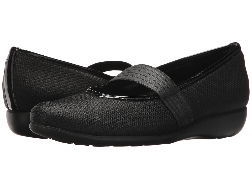 Munro - Fran (Black/Metallic Fabric) Women's Shoes