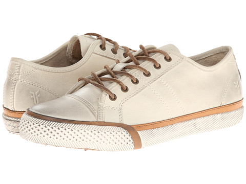 Frye - Greene Low Lace (Off White Soft Vintage Leather) Women