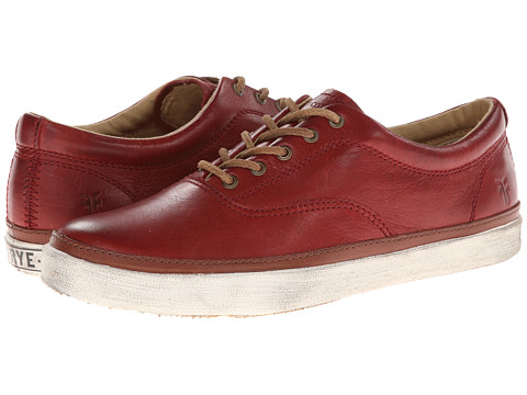 Frye - Greene Deck (Burnt Red Soft Vintage Leather) Women