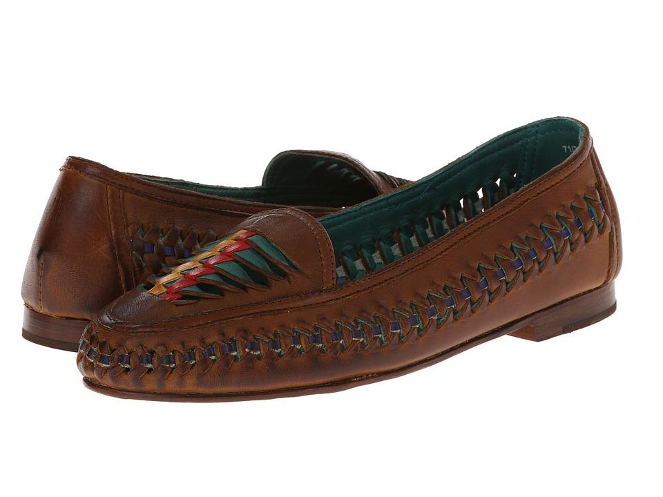 Frye - Heather Twisted Slip On (Cognac Soft Vintage Leather/Veg Tan) Women's Shoes
