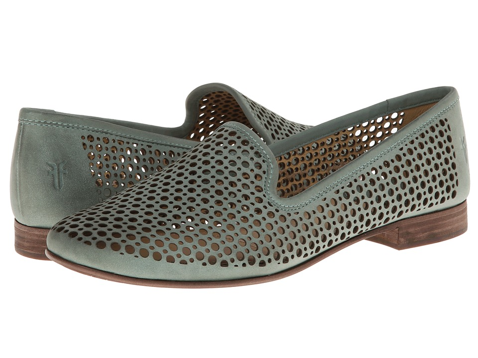 Frye - Jillian Perf Slipper (Mint Buffed Nubuck) Women's Slip on Shoes