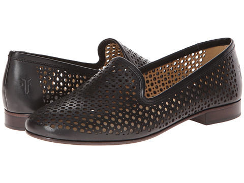 Frye - Jillian Perf Slipper (Black Smooth Full Grain) Women's Slip on Shoes