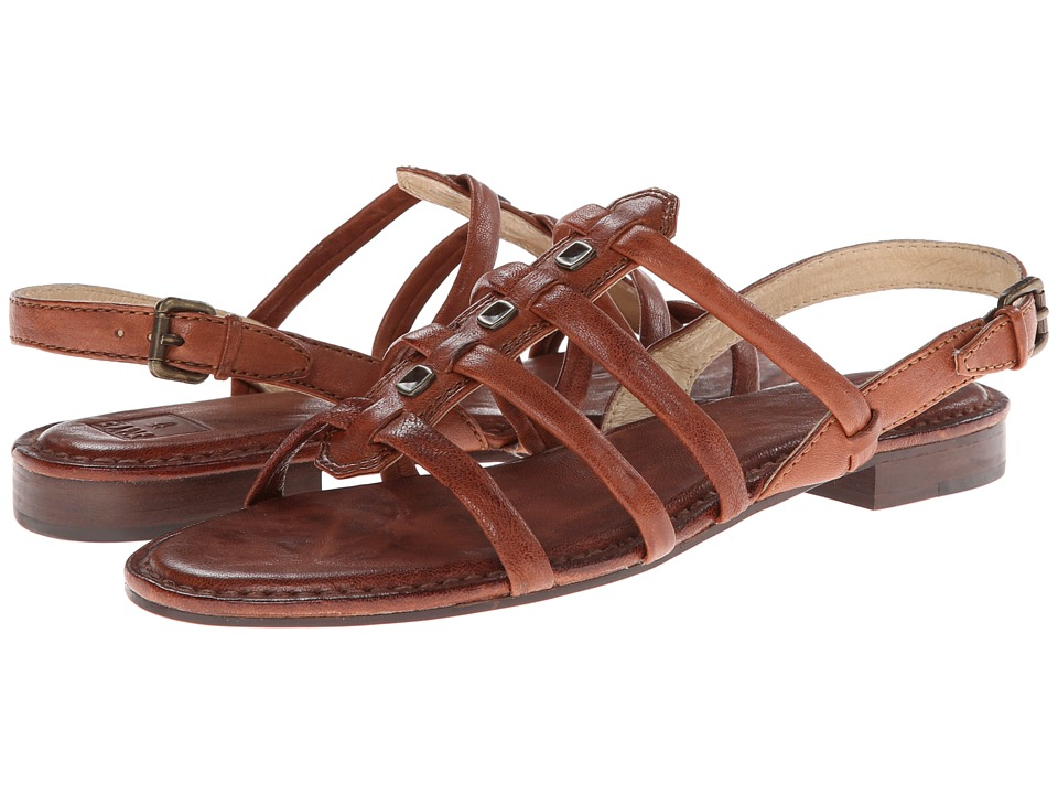 Frye - Phillip Square Stud (Cognac Antique Soft Vintage) Women's Sandals