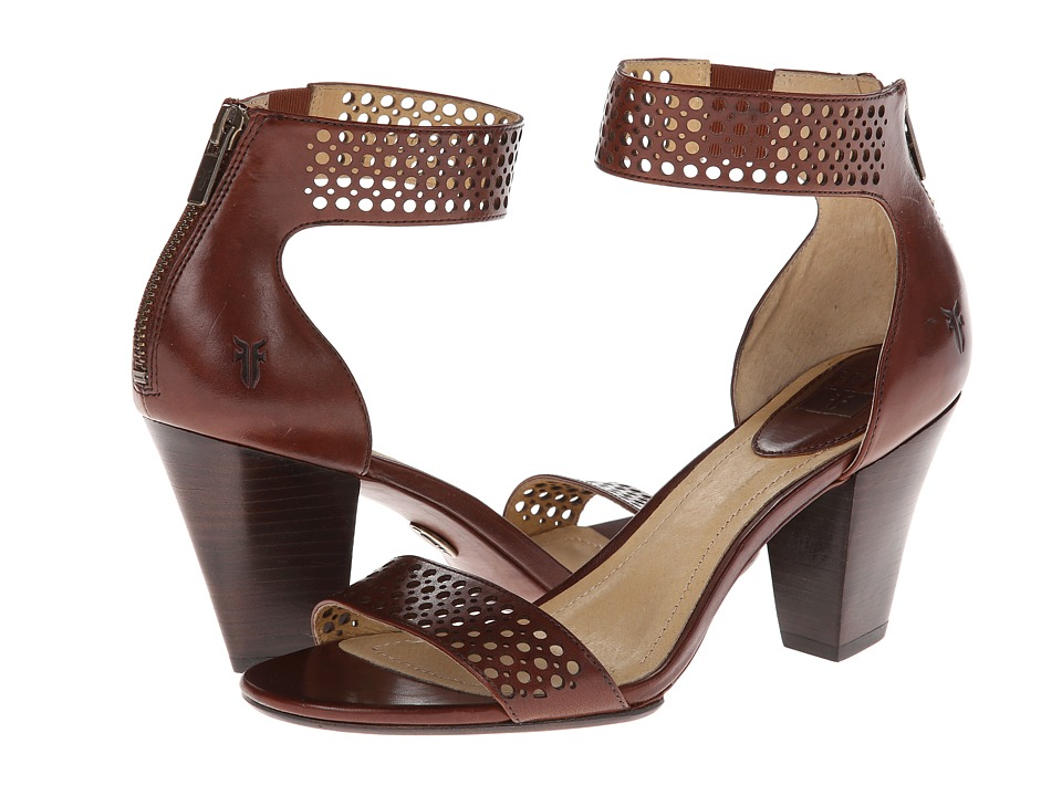 Frye - Skye Perf Ankle (Redwood Smooth Full Grain) Women