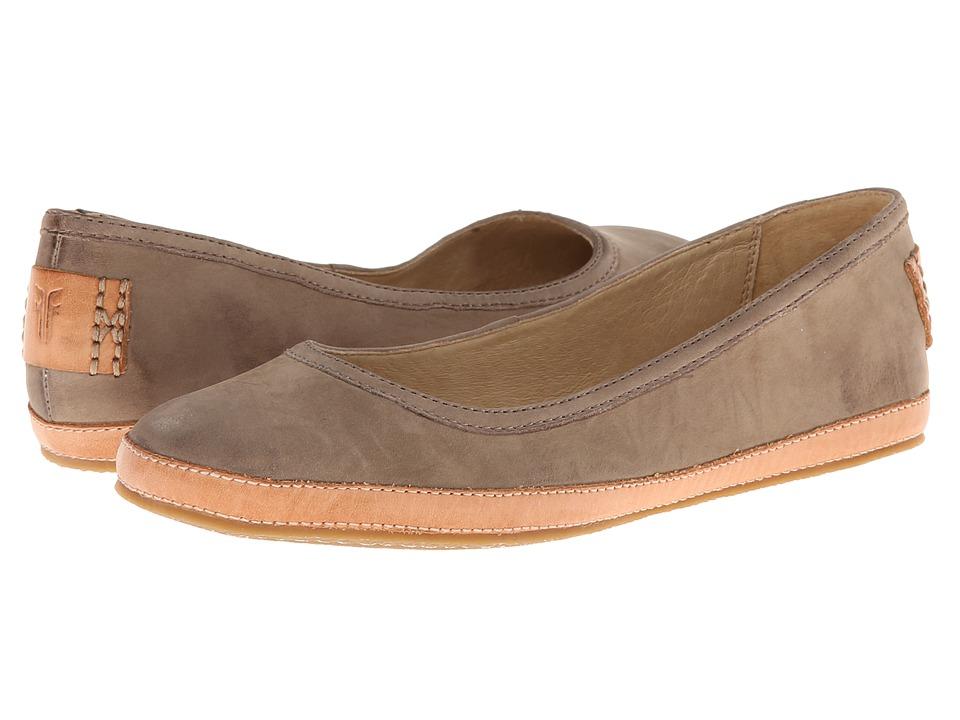 Frye - Tegan Ballet (Grey Buffed Nubuck) Women's Shoes