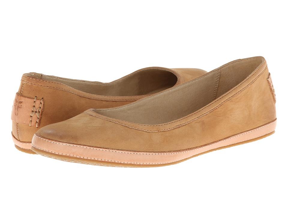 Frye - Tegan Ballet (Natural Buffed Nubuck) Women's Shoes