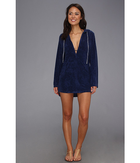 Splendid - Signature Terry Hooded Tunic Cover-Up (Navy) Women