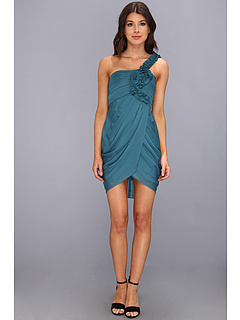SALE! $79.99 - Save $268 on BCBGMAXAZRIA Short One Shoulder Dress (Tahiti Blue) Apparel - 77.01% OFF $348.00