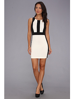 SALE! $14.99 - Save $54 on Gabriella Rocha Mel Dress (Ivory Black) Apparel - 78.28% OFF $69.00