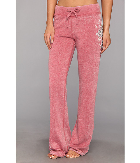 Affliction - Paradigm B/O Track Pant (Red Burnout) Women