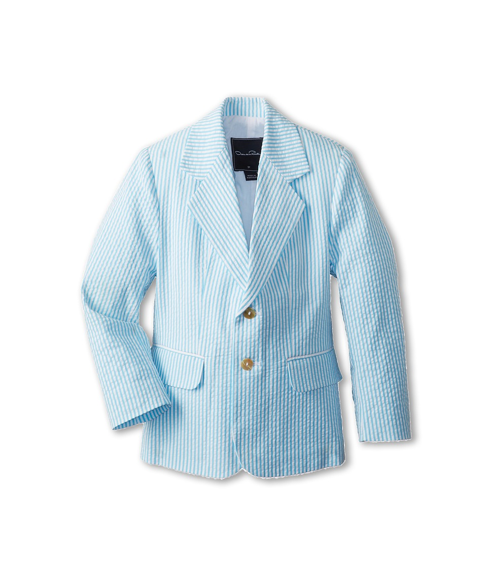 Oscar de la Renta Childrenswear - Seersucker Blazer (Toddler/Little Kids/Big Kids) (Turquoise) Boy's Jacket